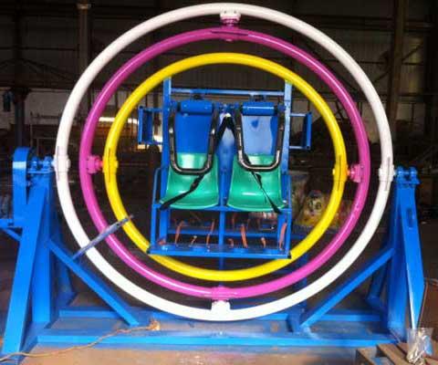Thrill Amusement Ride Human Gyroscope