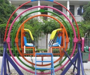 Amusement gyroscope ride for human
