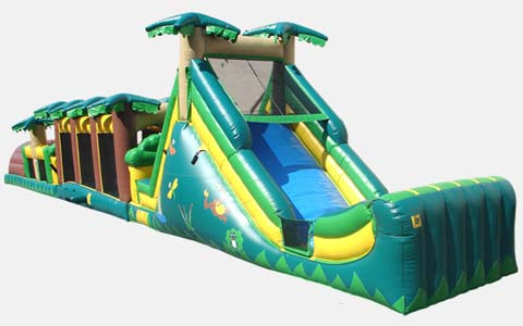 swimming pool inflatable obstacle course