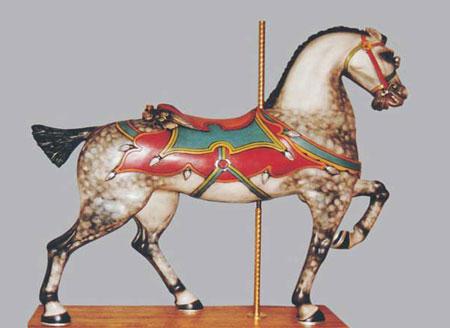 vintage carousel horse ride