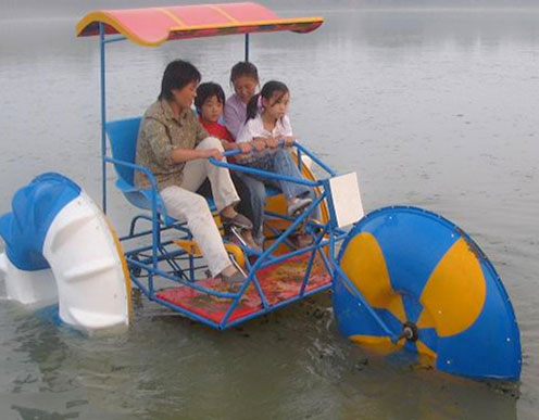 Water tricycles ride for sale in the pool