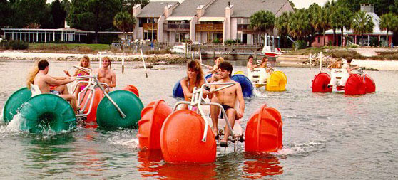 Water rides tricycles ride for amusement park swimming pool