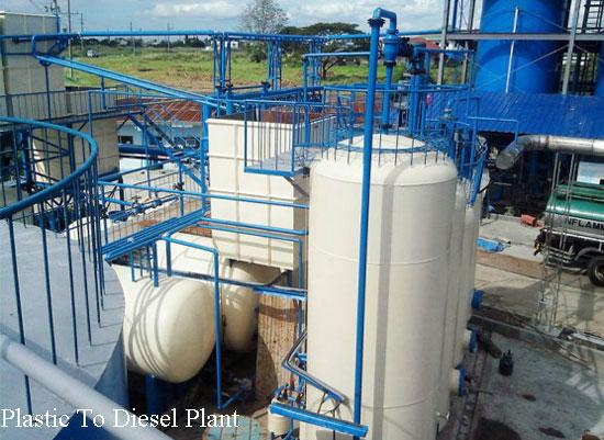 Plastic to diesel plant