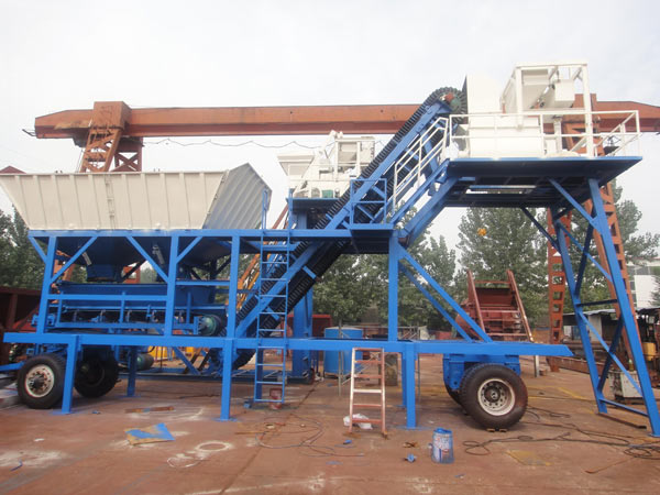 mini mobile concrete batching plant price