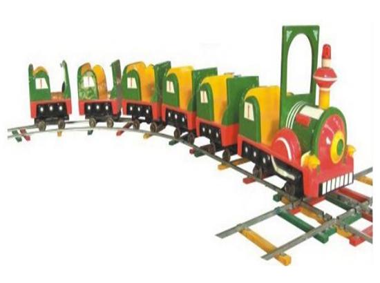 Kiddie vintage trains for backyard