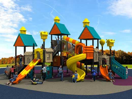 Public park playground equipment