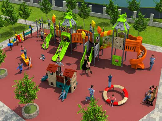 Public playground equipment for fun
