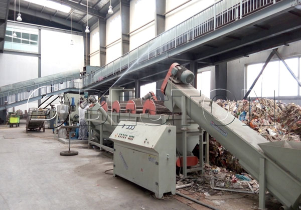 Beston solid waste sorting plant for sale