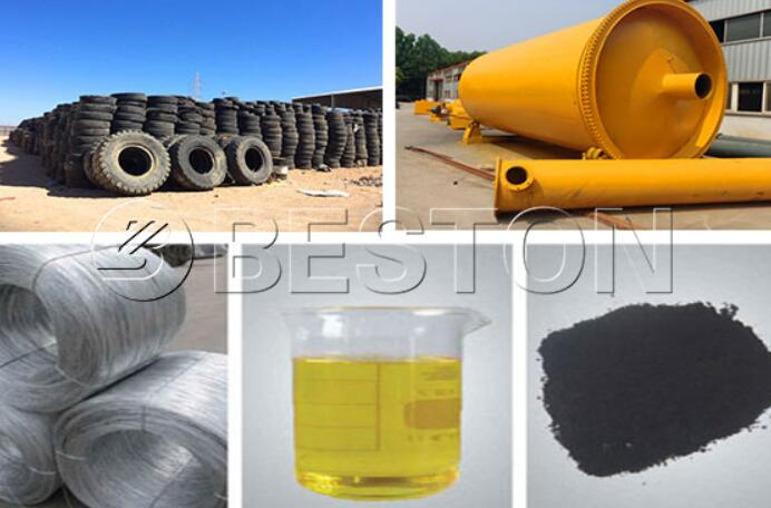 Beston Waste Tire Pyrolysis Oil Plant